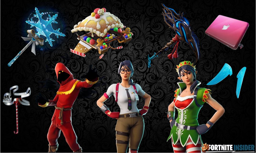 Christmas Skins.Leaked Fortnite Skins Season 7 Christmas Fortnite 2019 Fps
