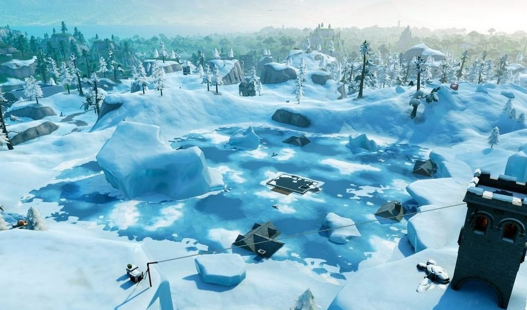 Fortnite Season 7 Map Changes - Greasy Grove Snowed Over