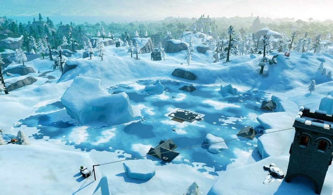 fortnite season 7 map changes greasy grove snowed over - snow biome in fortnite location