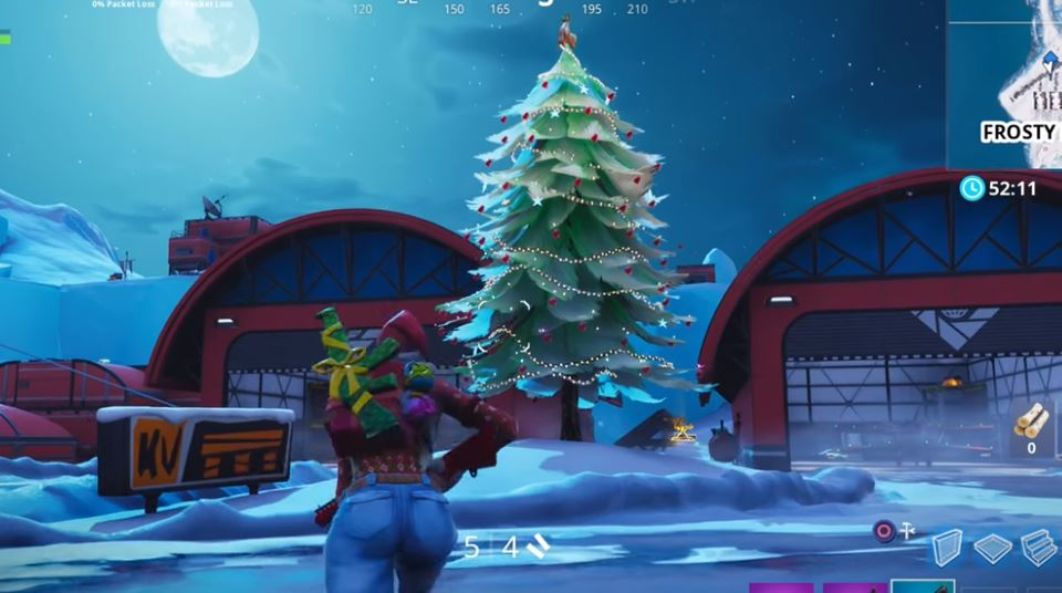 14 Days Of Fortnite Day 9 Dance In Front Of Holiday Trees