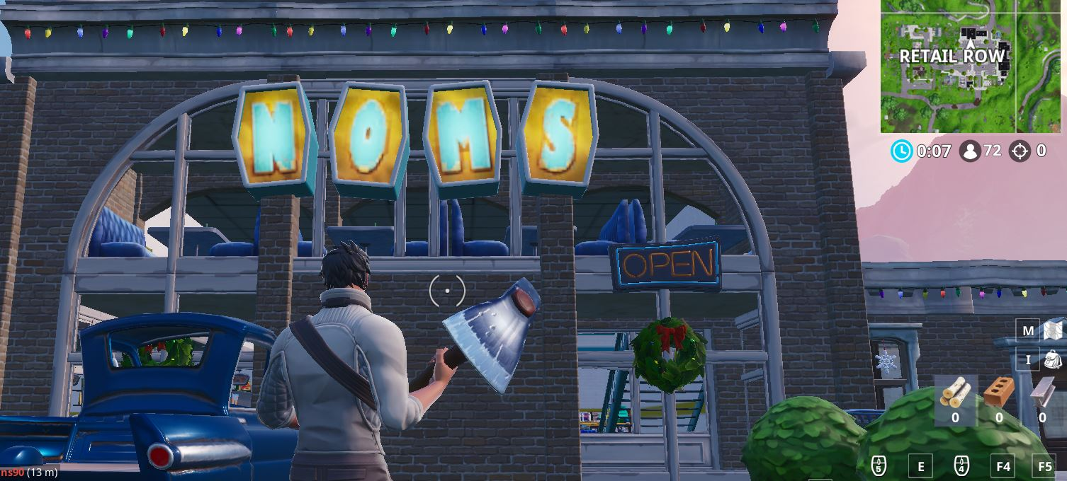Final Stage: Visit the NOMS sign in Retail Row