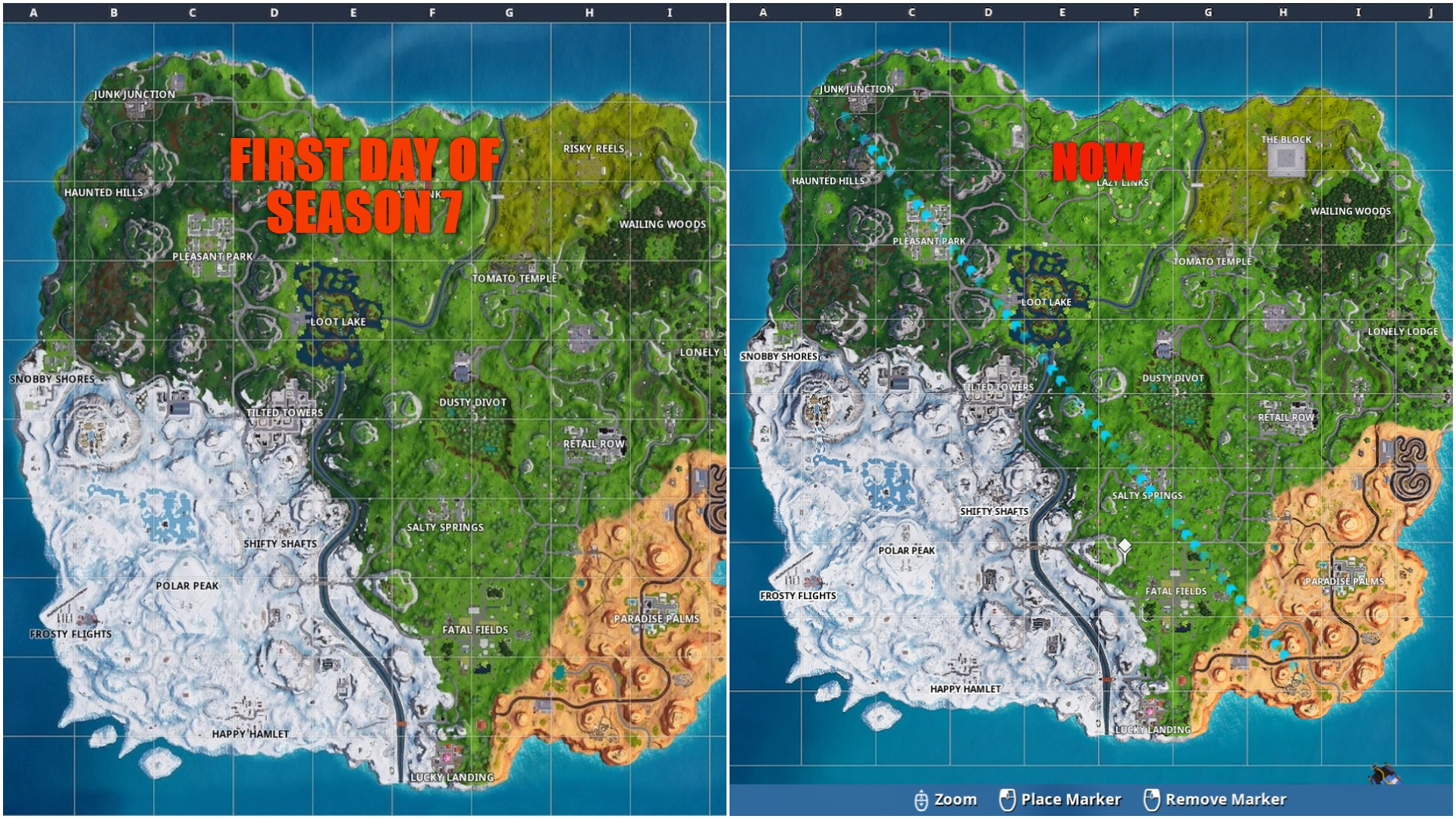 Snow Spreading Across the Map in Fortnite