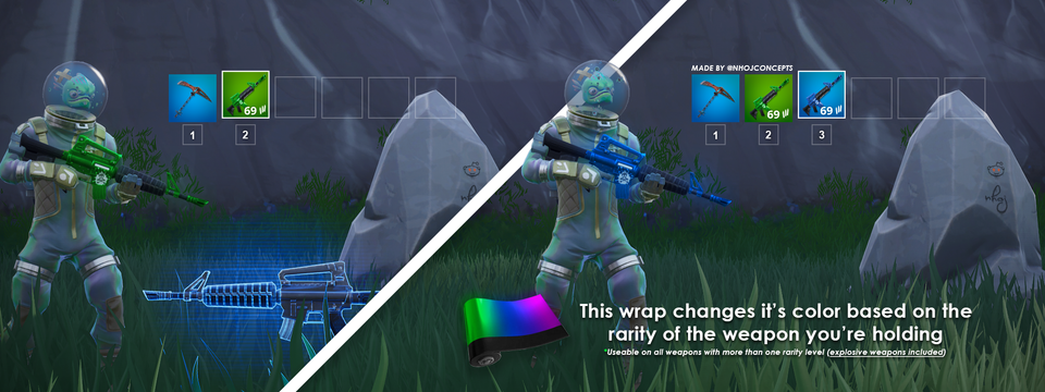 Weapon Wrap Changes Fortnite Concept