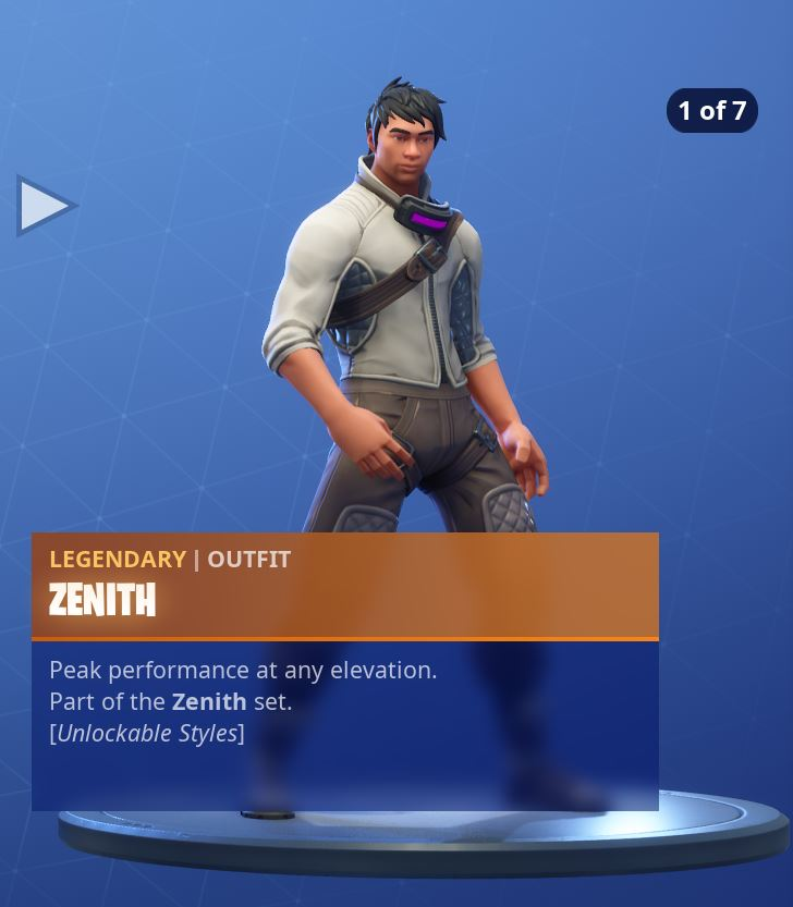 Zenith Stage 1 of 7