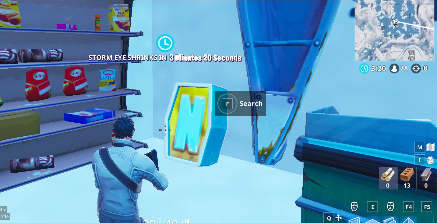"Search the letter ""N"" under a frozen lake challenge location"