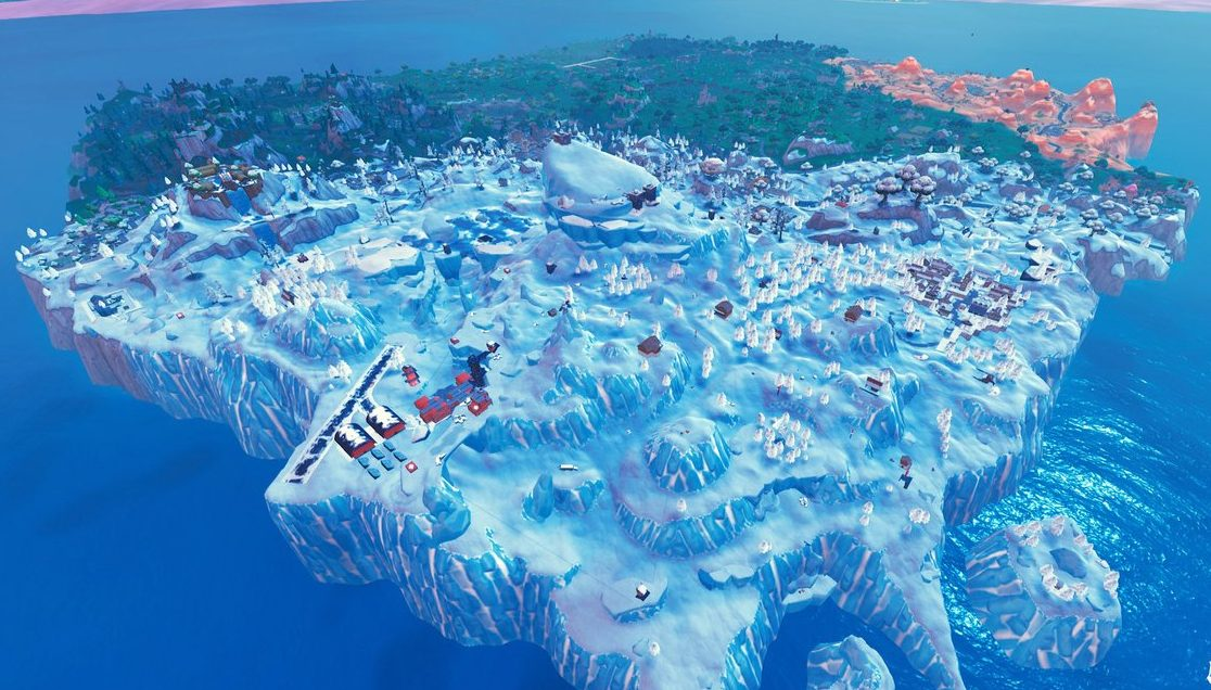 fortnite season 7 map changes snow biome - fortnite map changes today