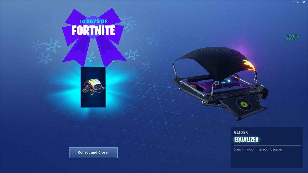 14 Days of Fortnite Day 14 Reward- Equalizer Glider