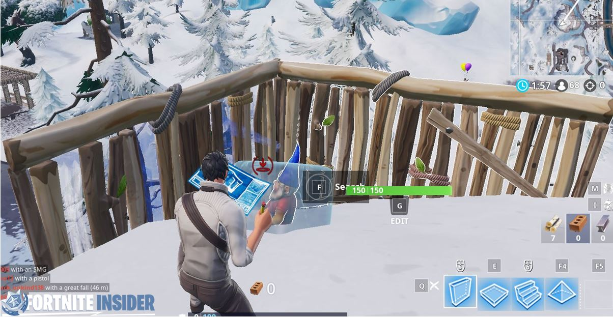 Fortnite Chilly Gnome - South of Shifty Shafts