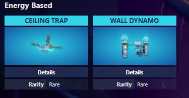Fortnite Ceiling Zapper and Wall Dynamo Traps