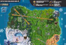 Fortnite Cheat Sheet Map for Season 7, Week 8 Challenges