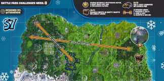 Fortnite Cheat Sheet Map for Season 7, Week 8 Challenges