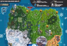 Fortnite Cheat Sheet Map for Season 7, Week 9