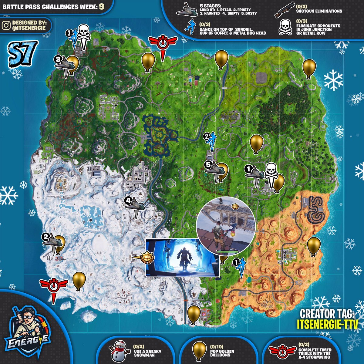fortnite cheat sheet map for season 7 week 9 - fortnite week 9 and 10 loading screen season 8