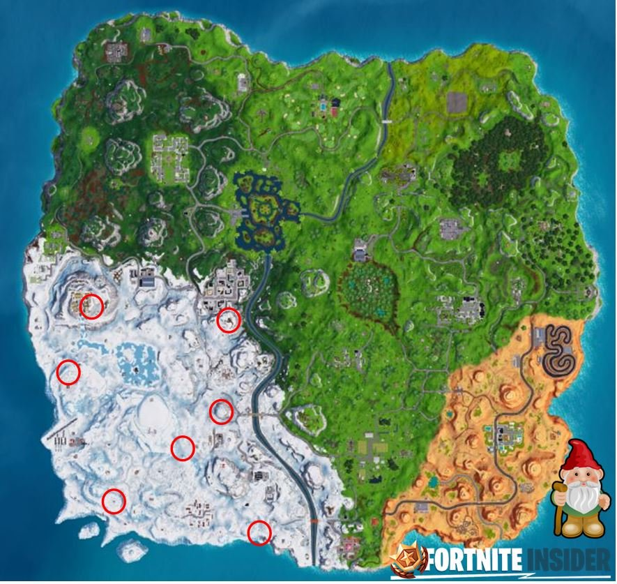 Fortnite Chilly Gnomes Locations- Season 7 Week 6 Challenges