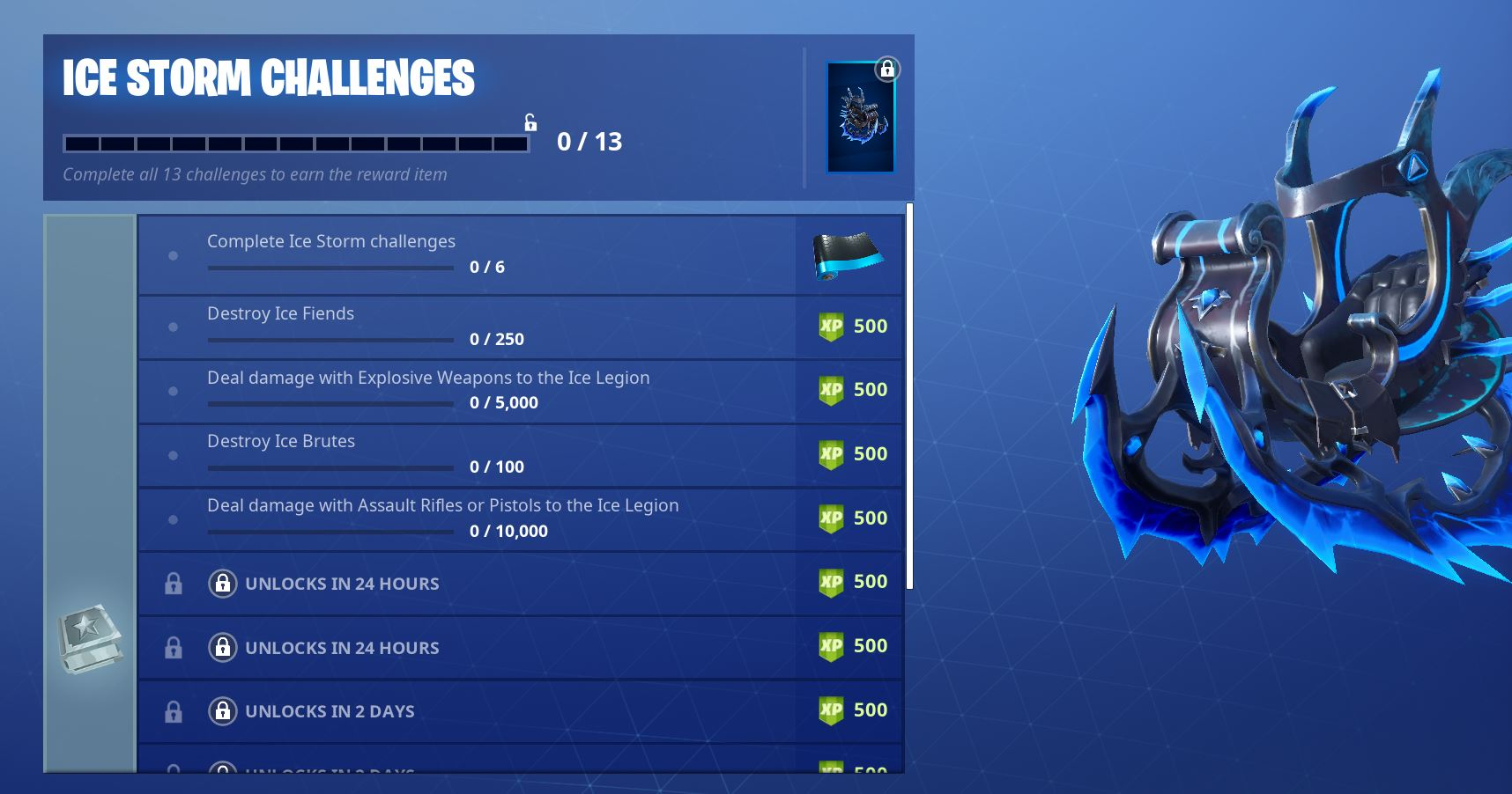 Fortnite Ice Storm Challenges - Day 2