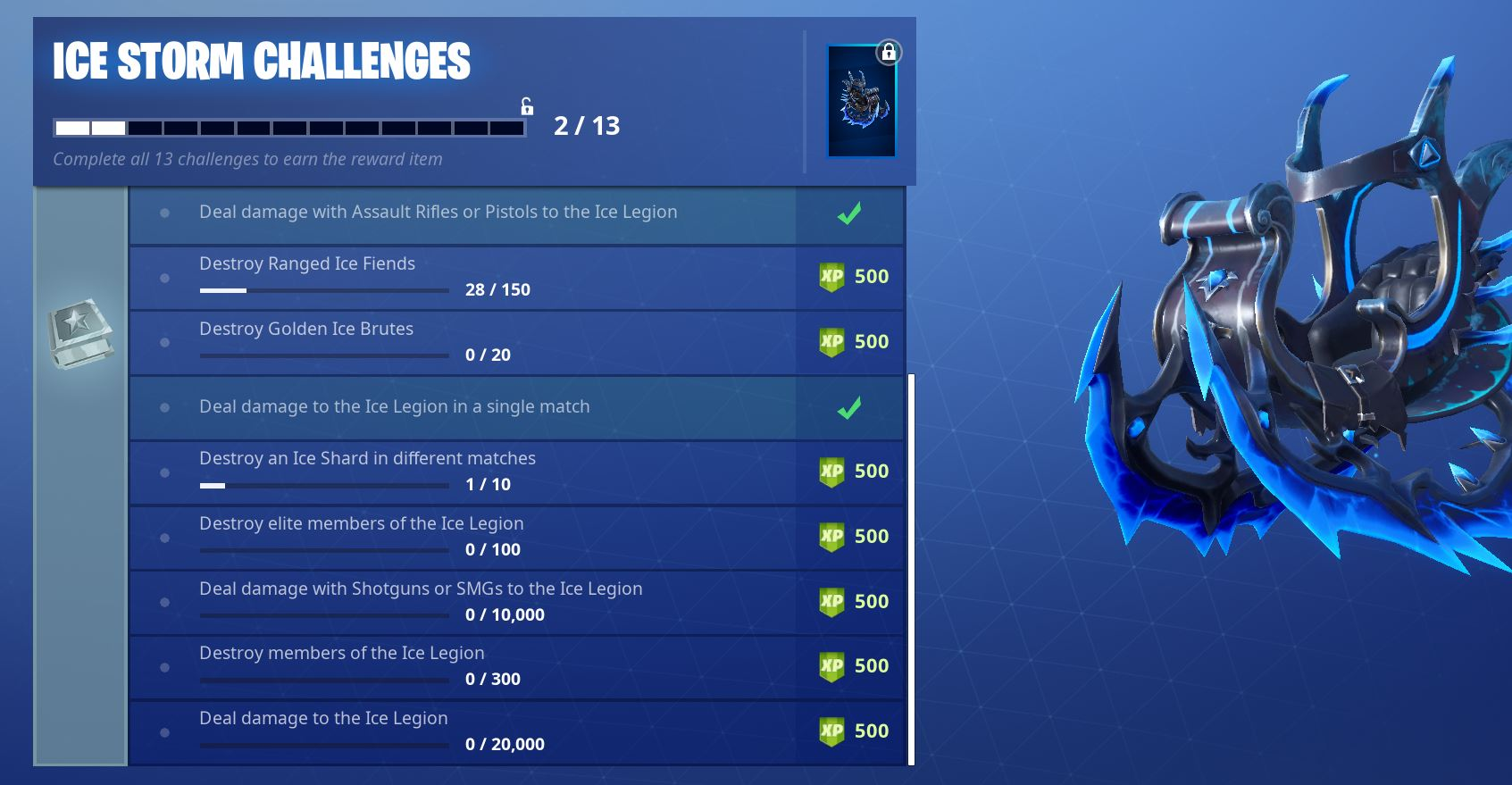 Fortnite Ice Storm Challenges - Day 6