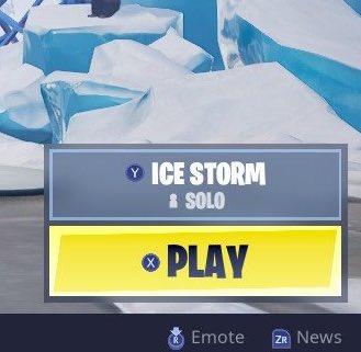 Fortnite Ice Storm LTM