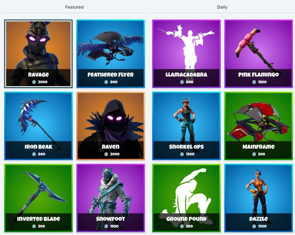 Fortnite Item Shop - 5th January all Fortnite Skins and Cosmetics