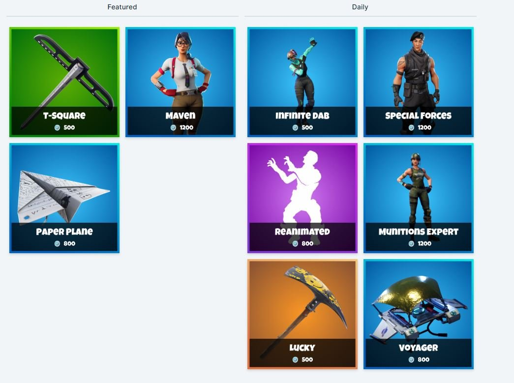 Fortnite Item Shop 6th January - All Fortnite Skins and Cosmetics