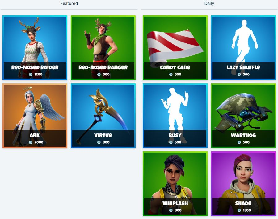 Fortnite Item Shop - Featured & Daily Items 11th - 12th January