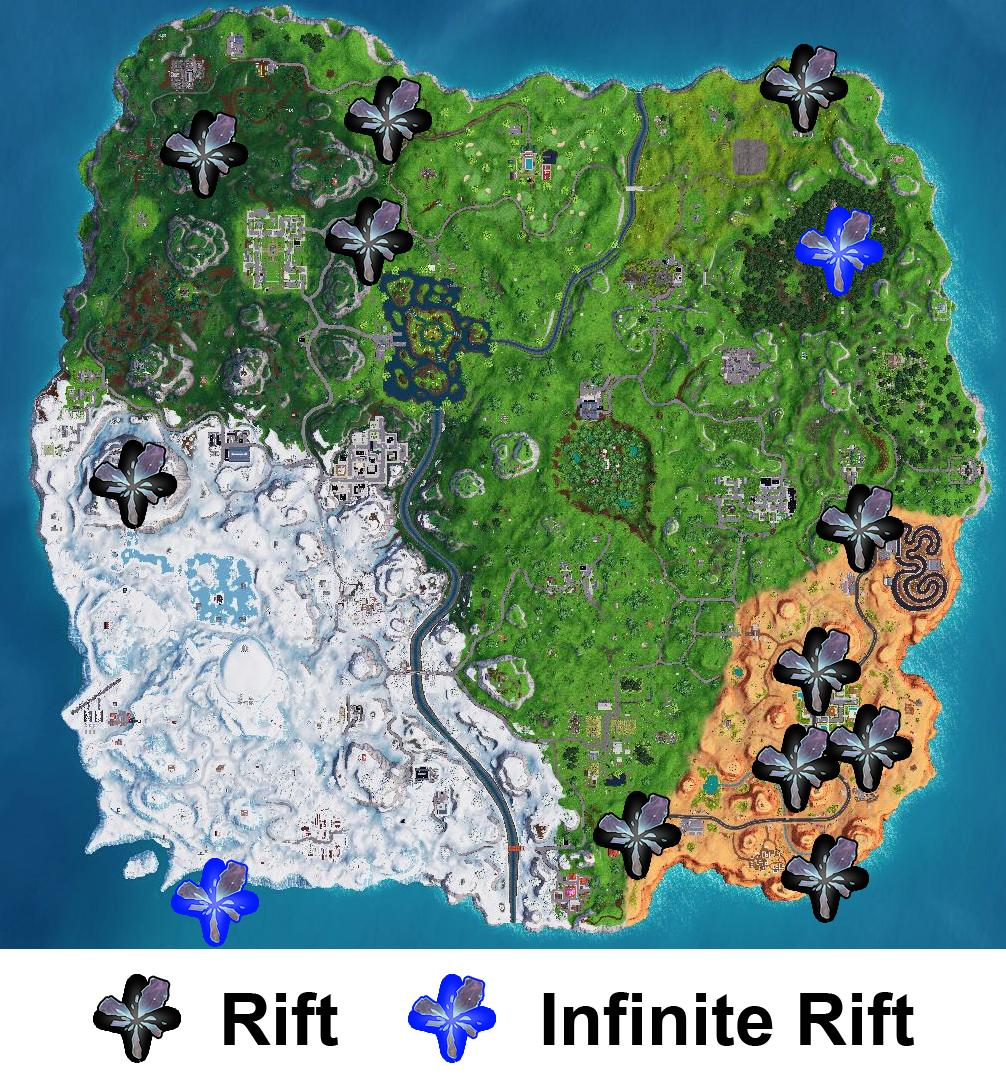 Fortnite Season 7 Rift Map