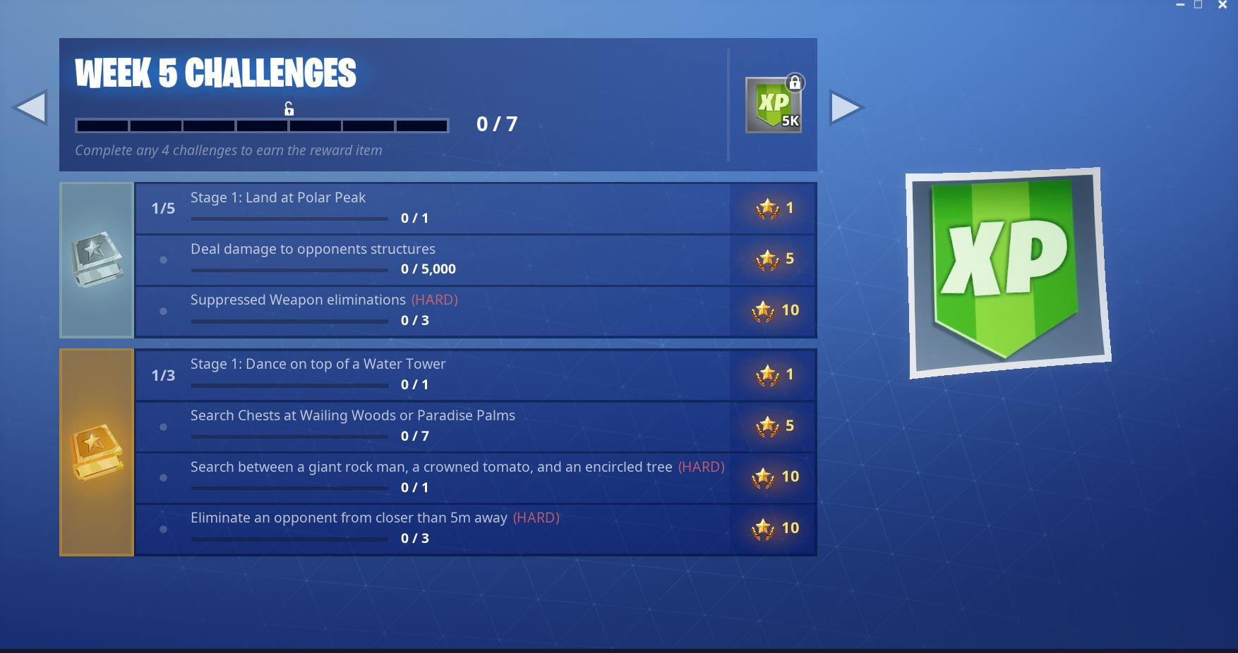Fortnite: Week 5, Season 7 Breakdown on Challenges