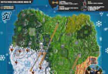 Fortnite Season 7, Week 6 Challenges Cheat Sheet Map