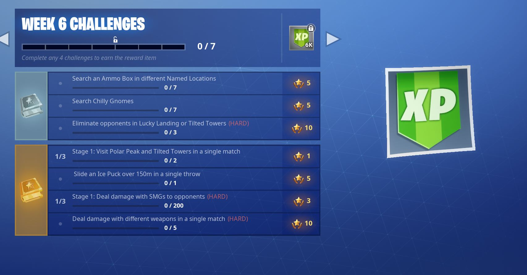Fortnite Season 7, Week 6 Challenges