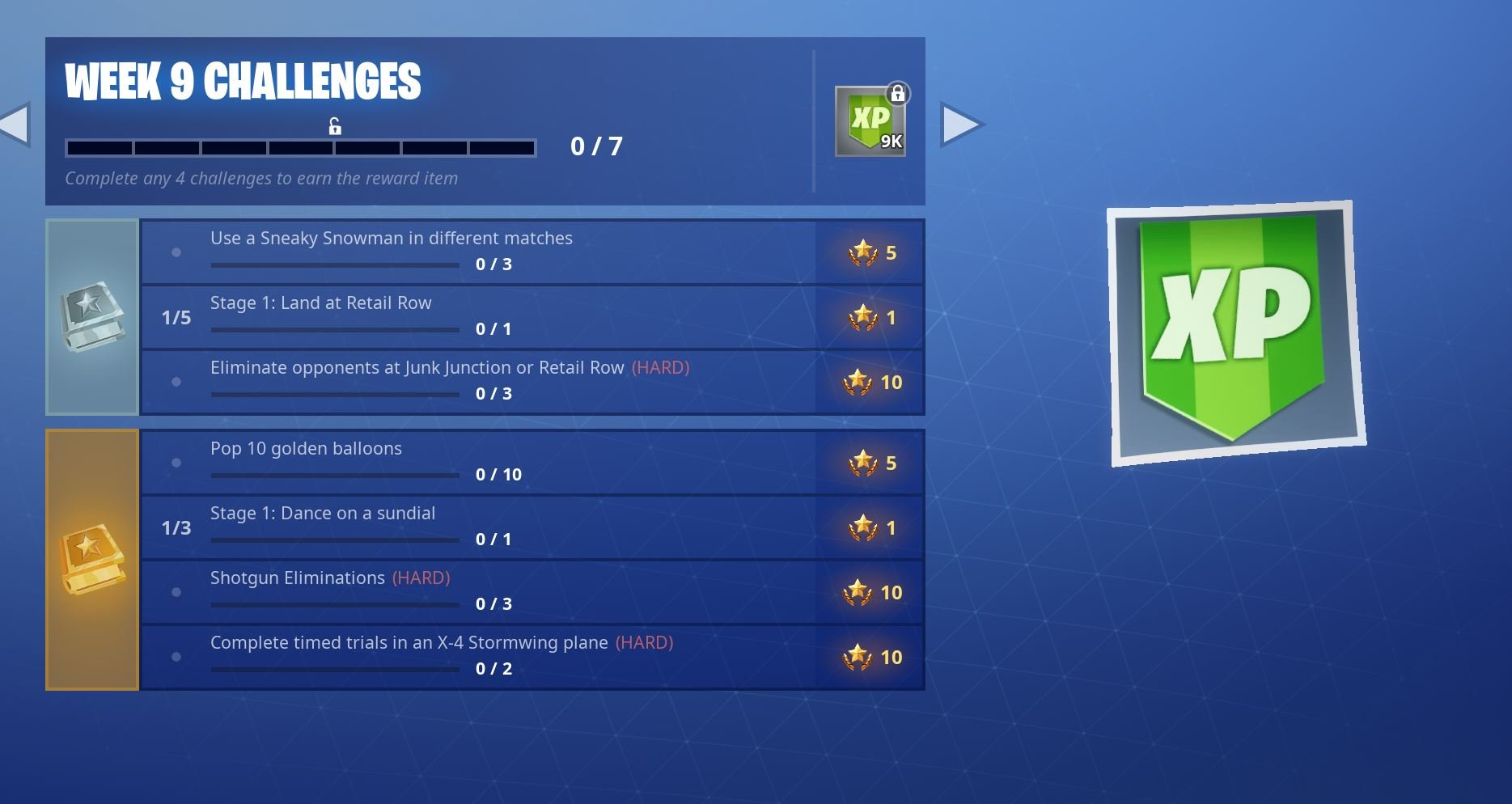 Fortnite Season 7, Week 9 Challenges