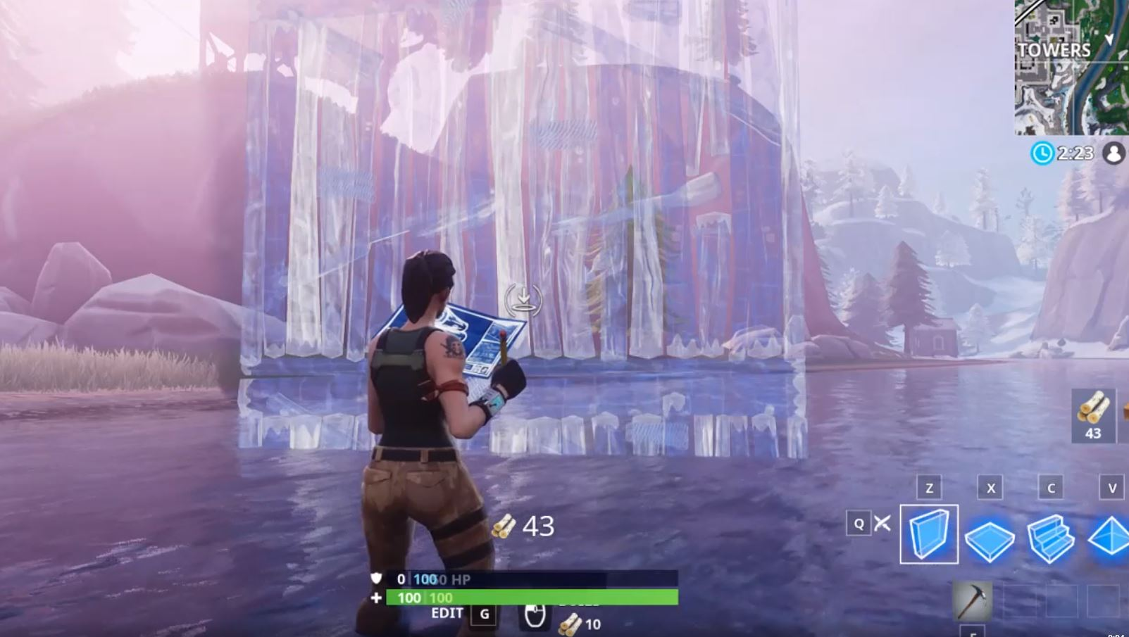 Fortnite Wall Placemnet After the v7.20 update