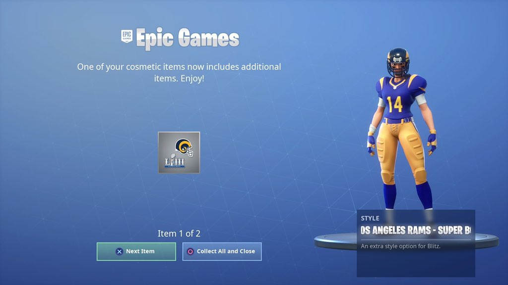 1c4148b1fec Two New Styles for the NFL Fortnite Skin Now Available
