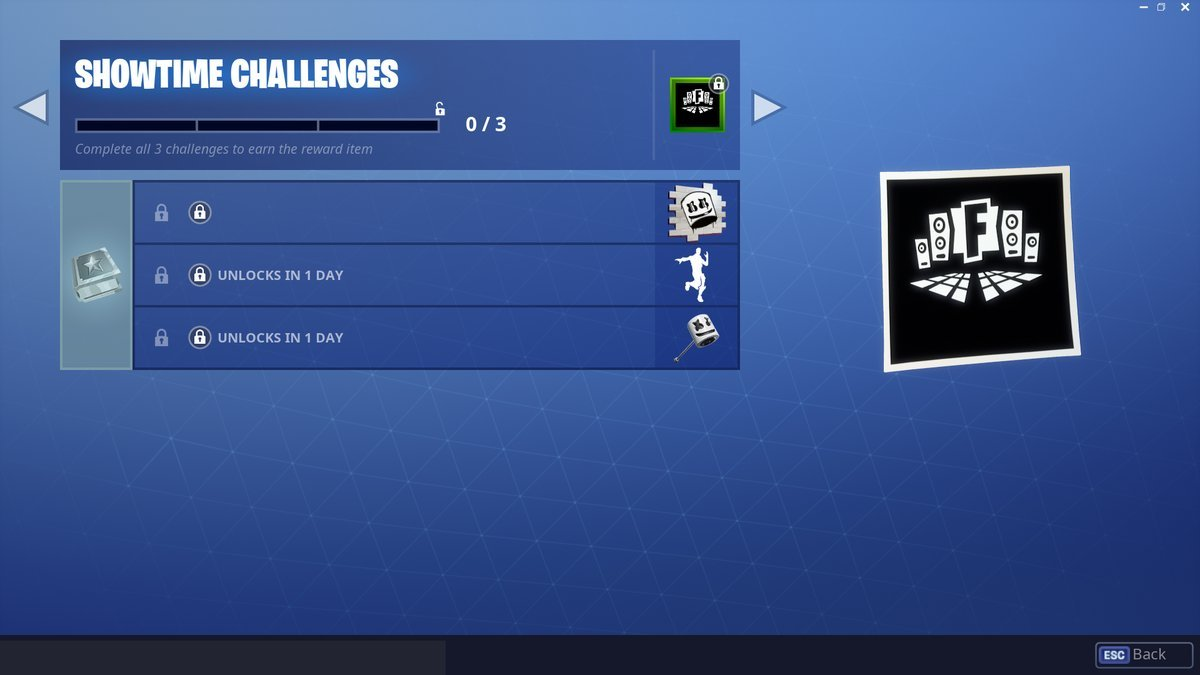 Showtime Challenges