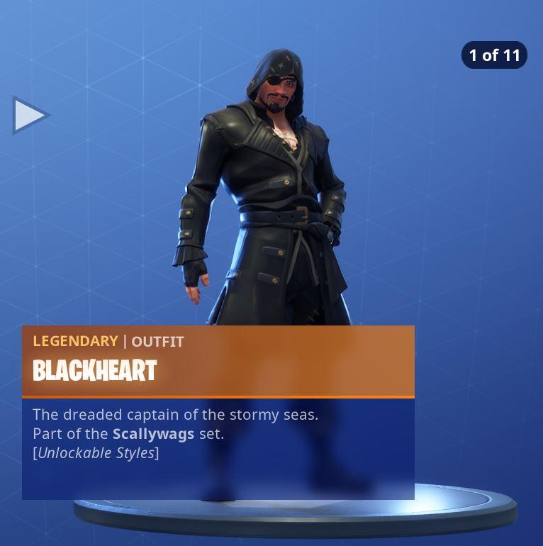 Fortnite Skin Blackheart Style 1