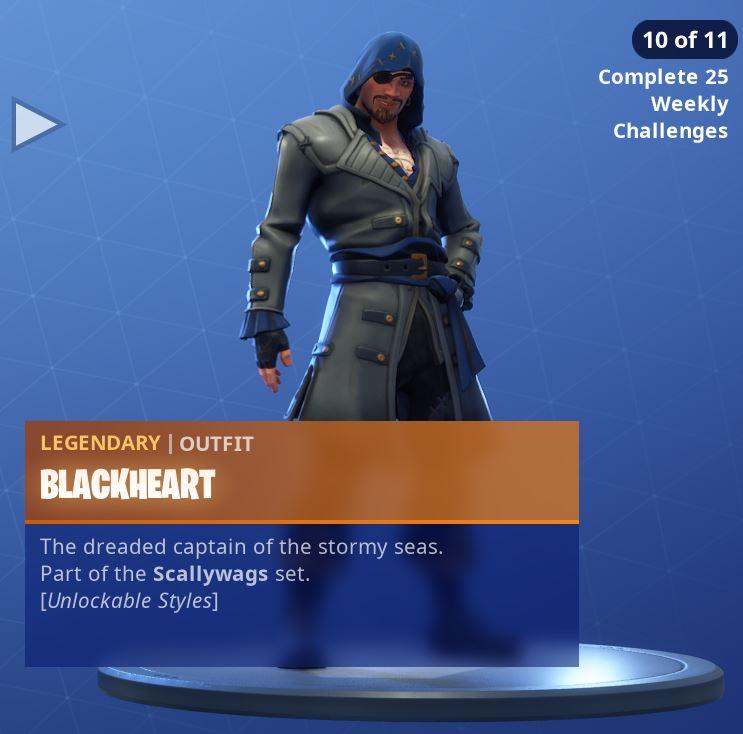 Fortnite Skin Blackheart Style 10