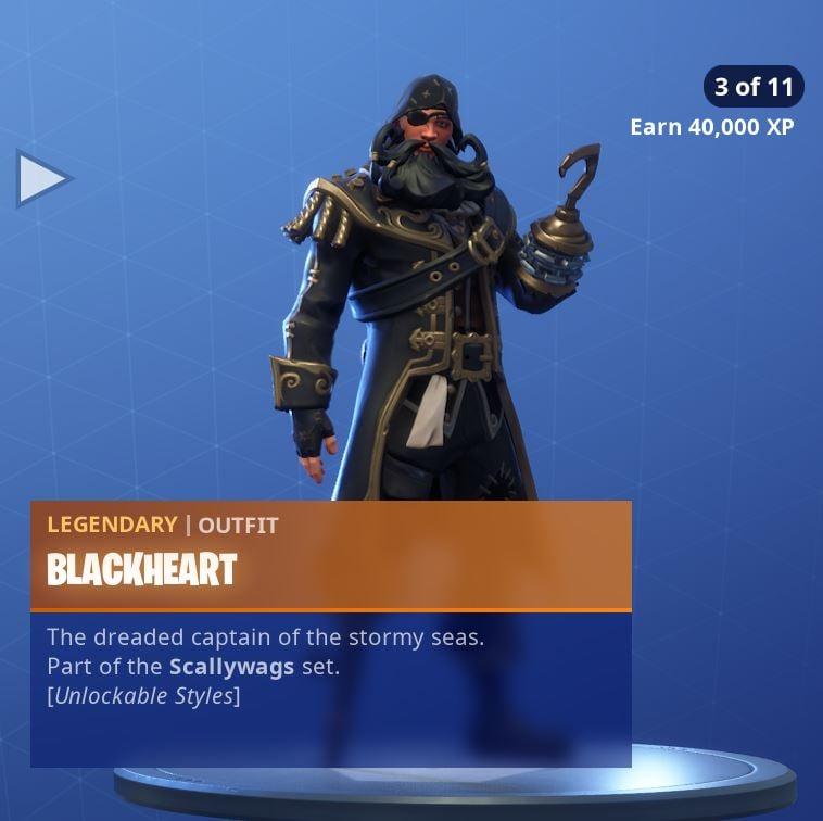 Fortnite Skin Blackheart Style 3