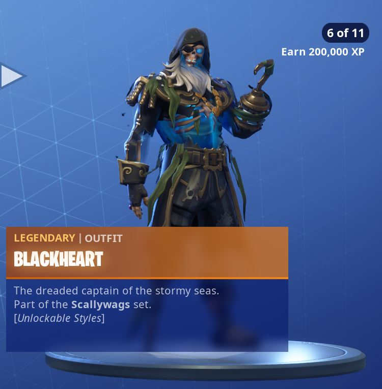 Fortnite Skin Blackheart Style 6