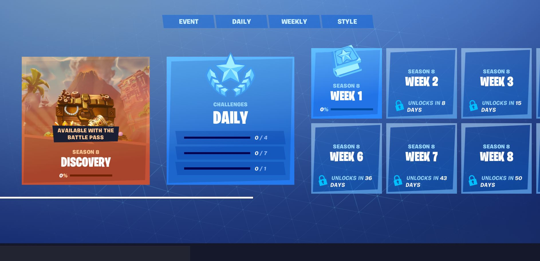 Fortnite Challenges new UI