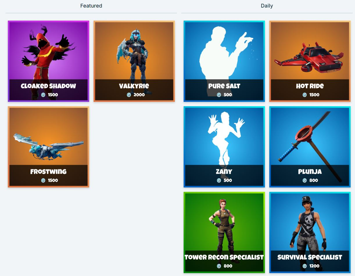 Fortnite Item Shop 13th February