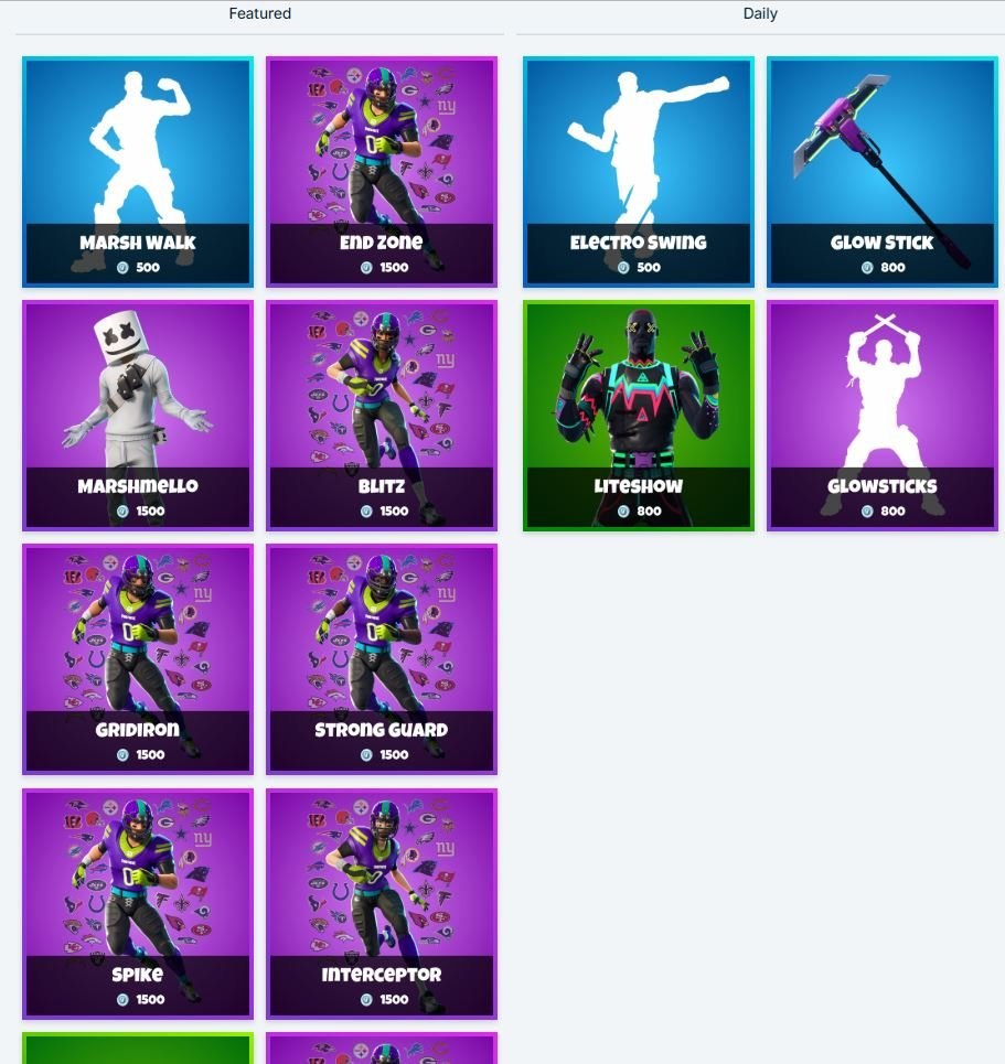 Fortnite Item Shop 2nd February