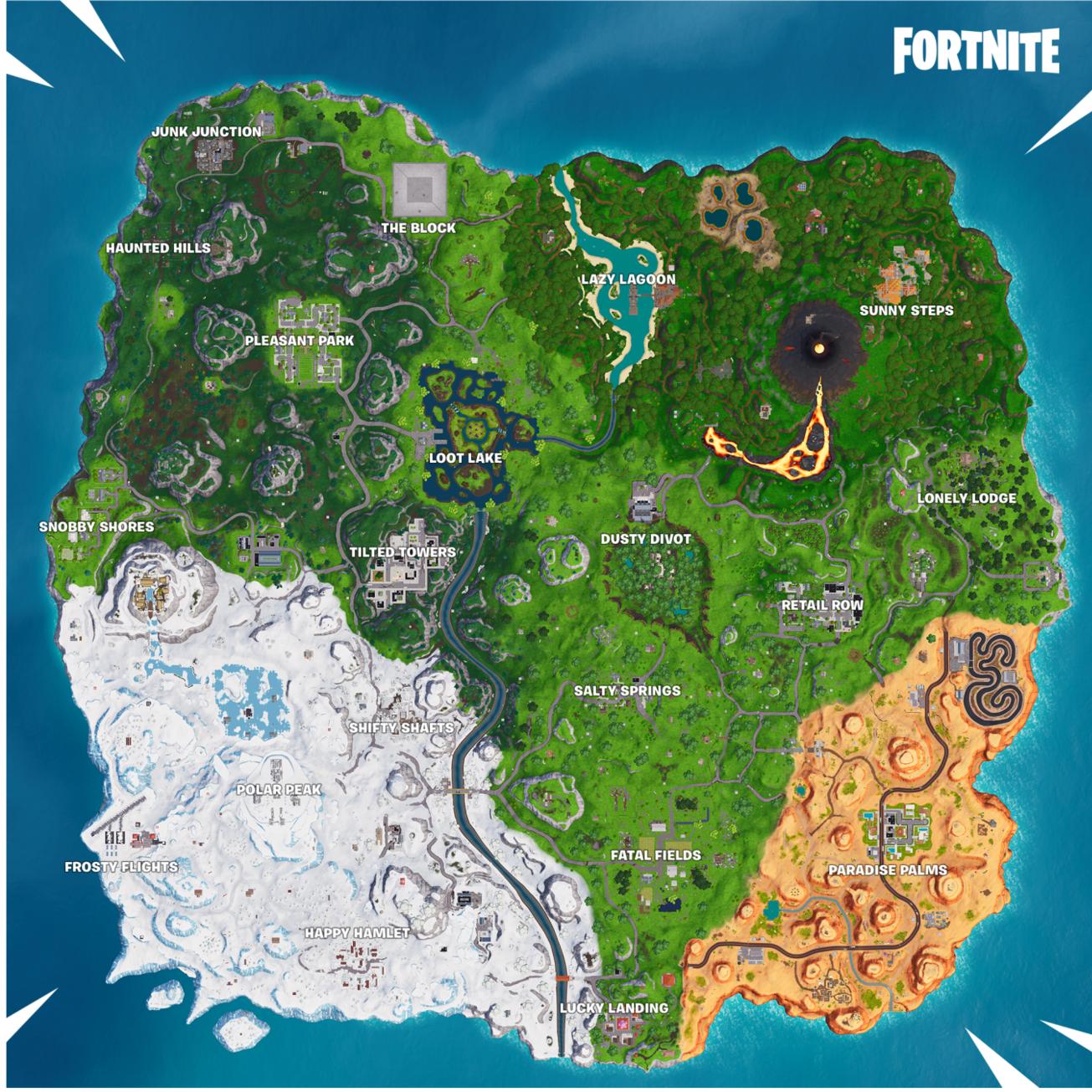 Fortnite Map Season 8