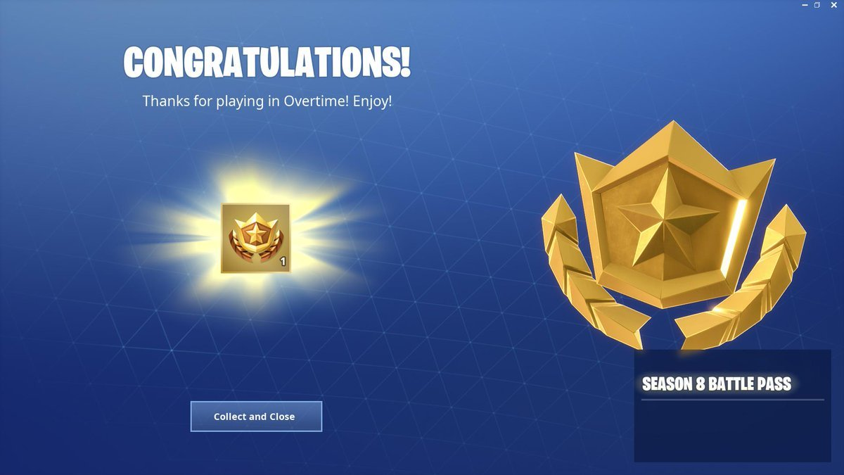 fortnite overtime challenges free season 8 battle pass - fortnite season 8 battle pass tiers