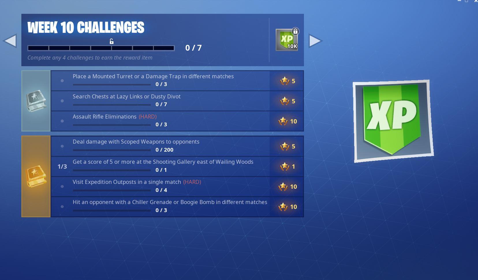 Fortnite Season 7, Week 10 Challenges
