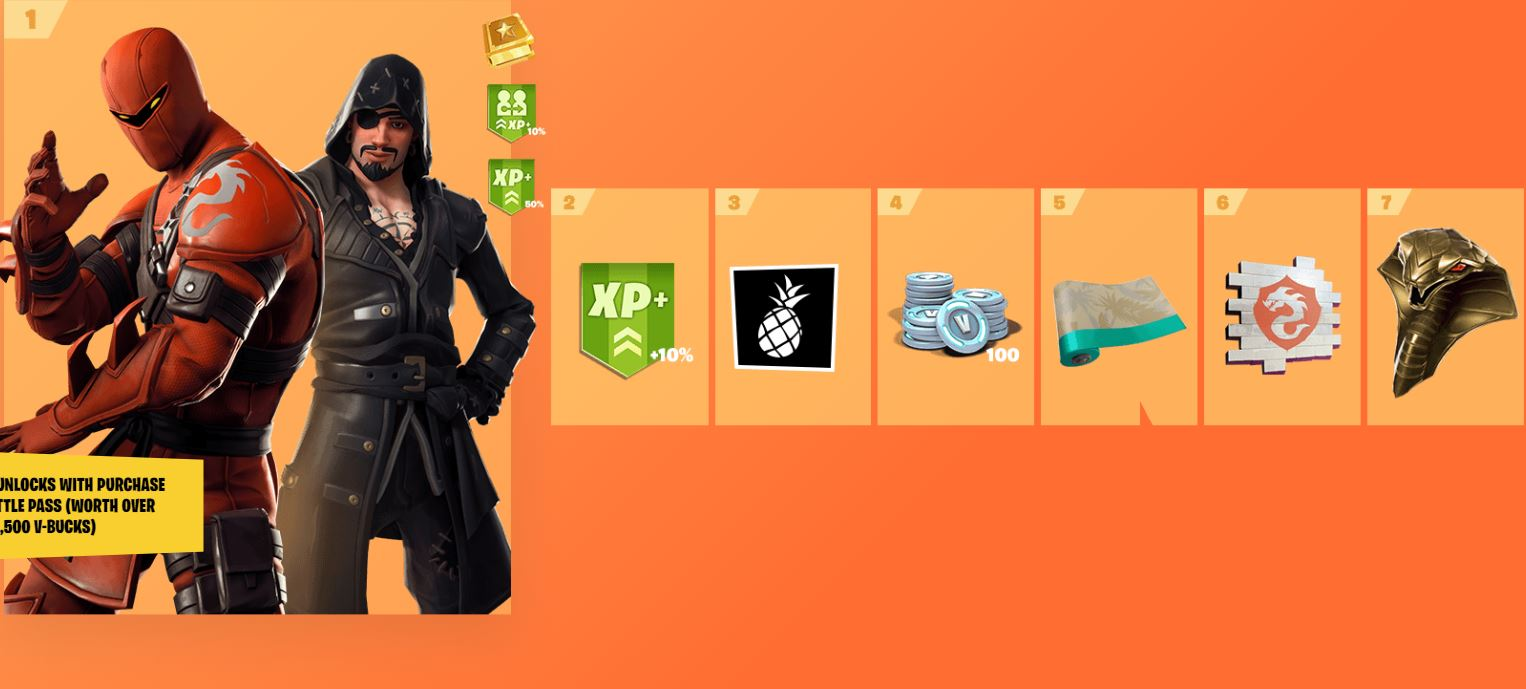 Fortnite Season 8 Battle Pass Cosmetics 1