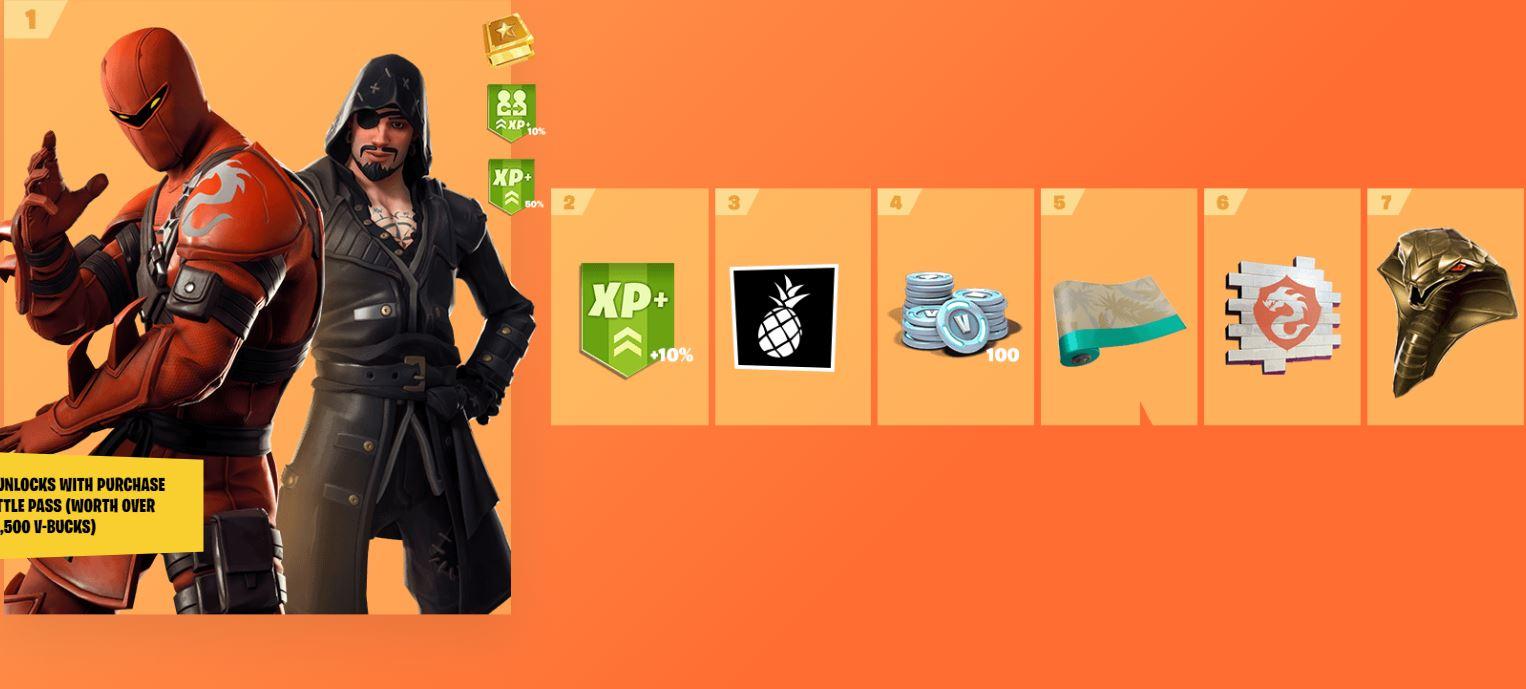 Fortnite Season 8 Battle Pass Rewards - Includes Skins ...