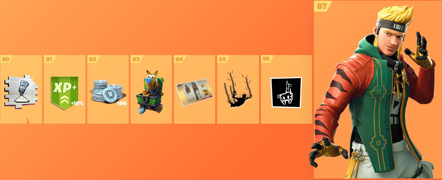 Fortnite Season 8 Battle Pass Cosmetics 11