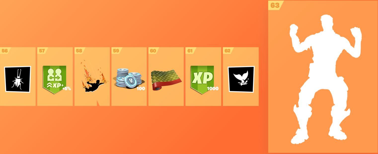 Fortnite Season 8 Battle Pass Rewards - Includes Skins, Wraps, Toys