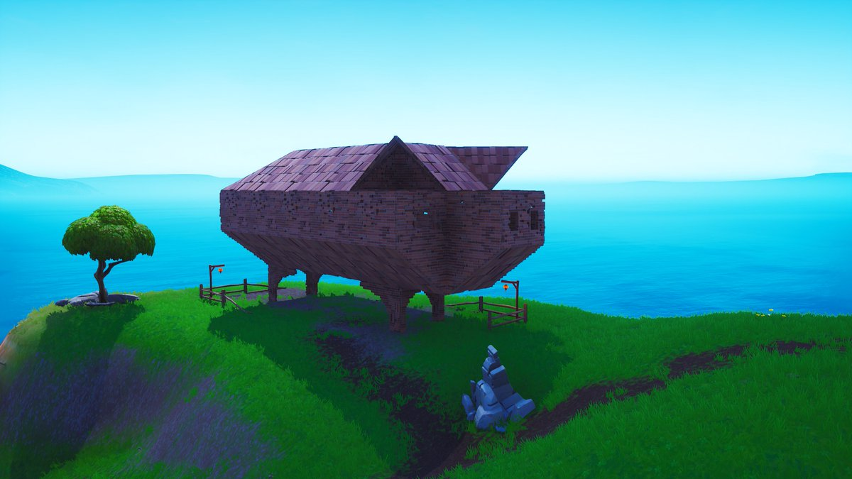 Fortnite Season 8 Map Changes - Pig Structure