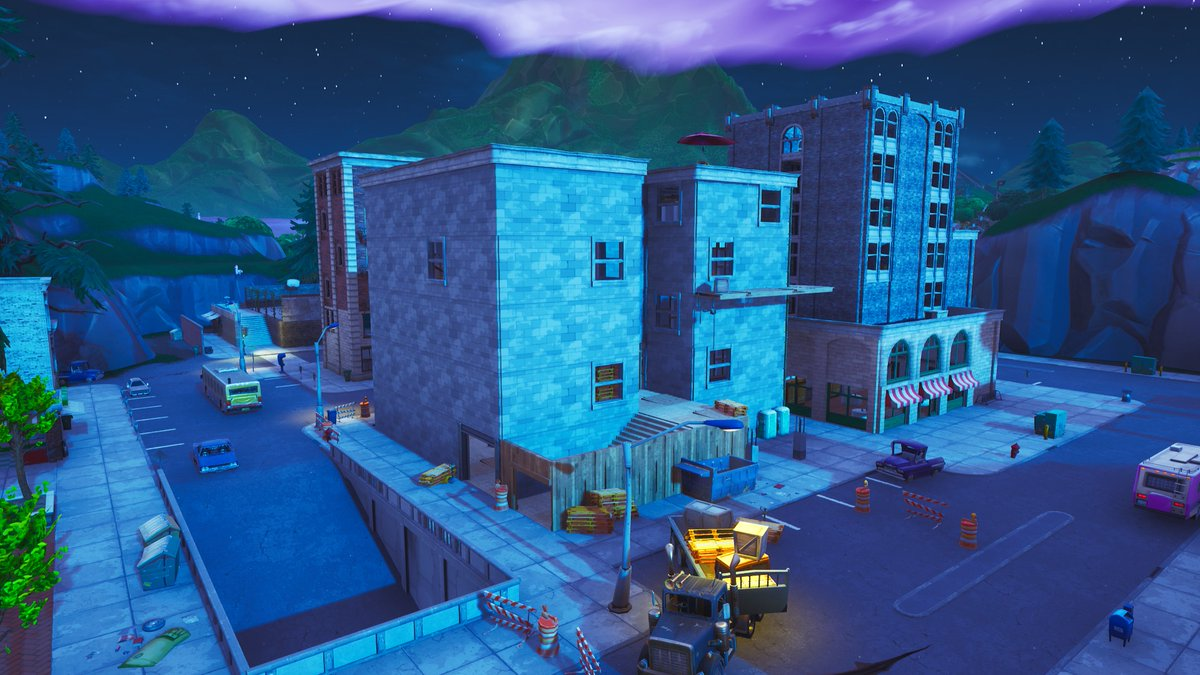Fortnite Season 8 Map Changes - Tilted Towers Cursed Building