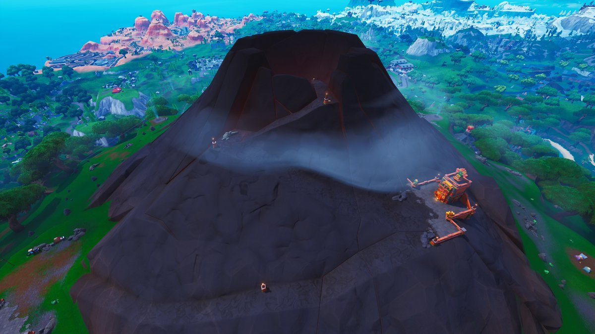 Fortnite Season 8 Map Changes - the Volcano