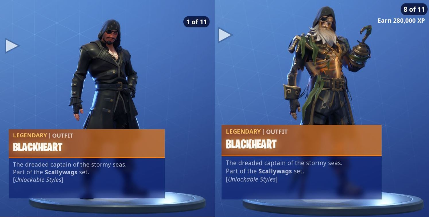 Fortnite Season 8 Skin Blackheart Styles